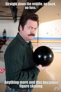 Ron Swanson on Bowling