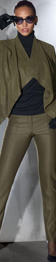 Madeleine Khaki Trousers and Jacket