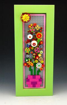 Lego Blooming Spring Flowers Mosaic by BrickBum