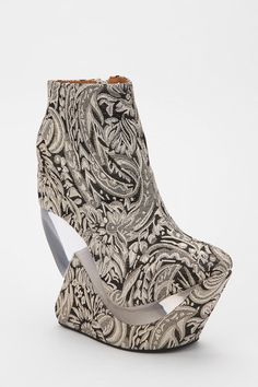 Strange...but cool..Jeffrey Campbell Zoom Tapestry Platform Wedge  #UrbanOutfitters