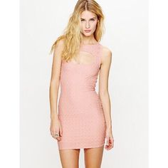"Free People Midtown Mini Dress in Blush Texturized body-conscious mini dress with cutout opening at front of chest and upper back. All over smocked pattern design. Stretchy fit. Fully lined.  *Body - 98% Nylon, 2% Spandex  *Lining - 100% Rayon  *Machine Wash Cold  *Import  *Excellent used condition!   Measurements for Size Small:  Length: 32""  Bust (all around - relaxed): 29""  Waist (all around - relaxed): 24 1/2""  Bottom Opening (all around - relaxed): 32""  Armhole Drop: 7 1/2"" Free People…"