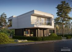 Two storey house in modern style with usable area Minimum size of a plot needed for building a house is m. Balcony Doors, Two Storey House, Home Catalogue, Reinforced Concrete, Flat Roof, Types Of Houses, Interior Walls, Ground Floor, Home Projects