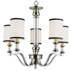 TransGlobe Lighting Modern Meets Traditional 5 Light Drum Chandelier