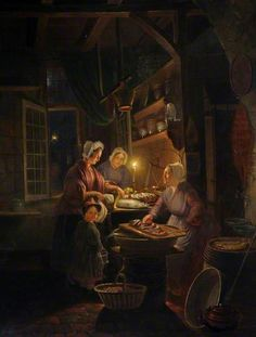 Interior of a Fish Shop by Candlelight by Gerrit Dou (after)