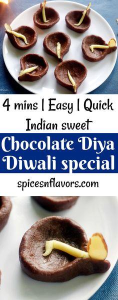 Chocolate Diya Peda is a regular Chocolate Peda made for Diwali recipes. Diwali Snacks, Diwali Food, Diwali Recipes, Diwali Party, Diwali Dishes, Diwali Special Recipes, Diwali Craft, Diwali Diy, Indian Desserts