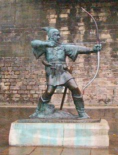 "Sahib; This is a picture of a Robin Hood statue situated ""believe it or not"" outside Nottingham palace! It gives me great satisfaction that Robin Hood was real"