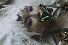"""Beauty and Butterfly"" photographed by Marta Bevacqua for L'Officiel Ukraine Hair: Cyril Laforet"