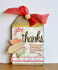 Give Thanks tag ~Webster's Pages~ - Scrapbook.com