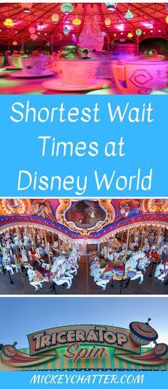 Disney World Rides With the Shortest Wait Times - Mickey Chatter Disney World Resorts, Disney World Tipps, Disney World Packing, Disney World Secrets, Disney Destinations, Disney World Florida, Disney World Tips And Tricks, Disney Tips, Disney Vacations