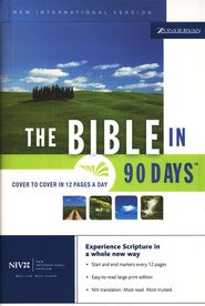 The NIV Bible in 90 Days (1984)--Cover to cover in 12 pages a day -- Goal is to read this through four times this year, once a quarter: working on quarter 1