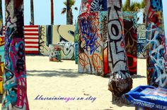 Graffiti, Street Art, Urban Art, Beach Wall Art, City Photography, Urban Decor by bluerainimages on Etsy