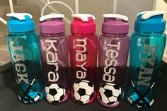 25 oz sport water bottles, hockey & soccer personalized to your request !  https://www.etsy.com/shop/AriellesTreasures03