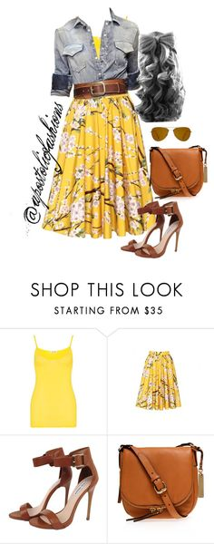 """Apostolic Fashions #492"" by apostolicfashions ❤ liked on Polyvore featuring American Vintage, Dolce&Gabbana, Elie Saab, Steve Madden, Vince Camuto and Oliver Peoples"