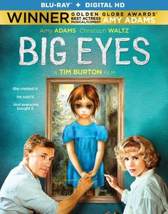 Big Eyes (2014)   A drama centered on the awakening of the painter Margaret Keane, her phenomenal success in the 1950s, and the subsequent legal difficulties she had with her husband, who claimed credit for her works in the 1960s.  Starring: Amy Adams, Krysten Ritter, Christoph Waltz, Jason Schwartzman, Danny Huston, Terence Stamp  Director: Tim Burton  #BigEyes #Bluray #TimBurton