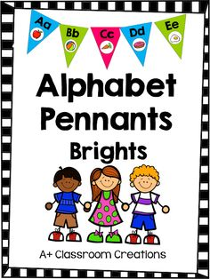 Alphabet Pennant:  Brights