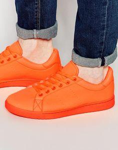 Immagine 1 di ASOS - Scarpe da ginnastica in neoprene arancione