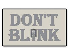Looking for your next project? You're going to love Don't Blink Letters - Doctor Who by designer HugSandwich.