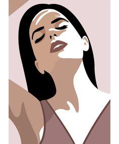 Sunbathing today un Paris ☀️ . Portraits Illustrés, L'art Du Portrait, Vector Portrait, Woman Portrait, Art And Illustration, Portrait Illustration, Illustrations, Space Drawings, Art Drawings