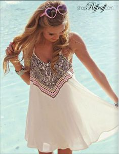 Beautiful thin strap flowy summer dress