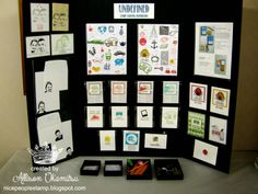 nice people STAMP!: An UNDEFINED Getaway - Inkin' Elite Spring Retreat 2014 - Stampin' Up! Hand Carved Stamps Display by Allison Okamitsu