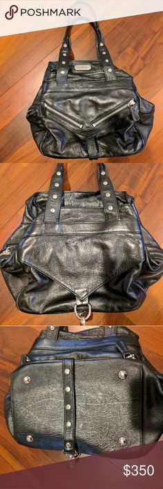 Botkier small black trigger bag The classic trigger bag that made Botkier famous. This one has tab zipper pulls instead of tassels, which I love and are hard to find. Rounded silhouette as opposed to the boxy shape most have. Black and small are also hard to find. I hunted this one down for a long time. I am just more into crossbody these days and this needs a new home. The leather is dry in some spots but no rips. Botkier Bags Satchels