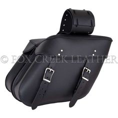 Large Wide Angle Saddlebag | $304.00 | Fox Creek Leather Carries Only The Highest Quality, Made in USA Leather Motorcycle Jackets, Products, Clothing Leather Goods.