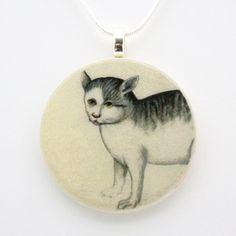 Curious Cat Necklace