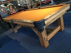 We are thrilled to have the new Olhausen Timber Ridge pool table on display in our Raleigh, NC showroom. It blends Rustic and Modern details for an very unique space! Call Atlantic Spas and Billiards today to get yours.