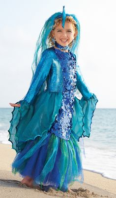 fish costume | This Tropical Angelfish Costume for girls is a pretty and colorful ...