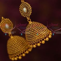 J4915 Antique Beads Traditional Broad Big Jhumka Earrings Latest Fashion Online