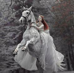 Justyna Wacławek & Eter in dress from Małgorzata... - #Dress #Eter #fantasy #Justyna #Małgorzata #Wacławek