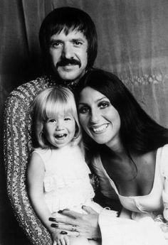 Sonny, Cher and their daughter Chastity Sun Bono.
