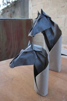Origami, Aesthetics and Natural History: Horse Heads