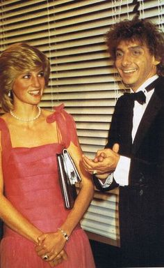 October 6, 1983: Princess Diana speaking with Barry Manilow after his concert at The Royal Festival Hall, London.