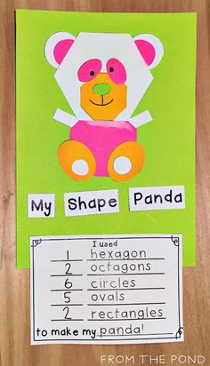 Frog Spot: Zoo Animal Shape Craft + A Freebie 2d Shapes Activities, Teaching Shapes, Teaching Math, Teaching Resources, Math Classroom, Kindergarten Math, Classroom Activities, Zoo Activities, Kindergarten Projects