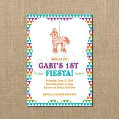Baby 1st Fiesta Birthday Invitation. $12.00, via Etsy.