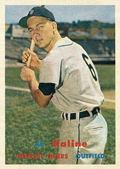 Al Kaline 1957 Outfield - Detroit Tigers Card Number: 125 Baseball Photos, Sports Photos, Baseball Stuff, Baseball Card Values, Baseball Cards, Madonna, Detroit Tigers Baseball, Pittsburgh Steelers, Dallas Cowboys