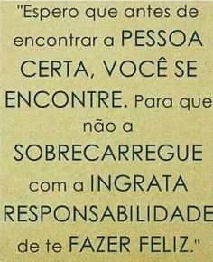 #responsabilidade #pessoacerta #seencontre