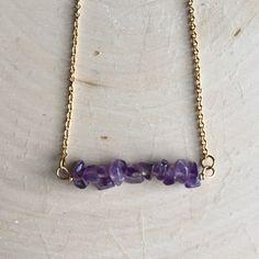 Collar de cristal collar amatista por AnahataRae en Etsy