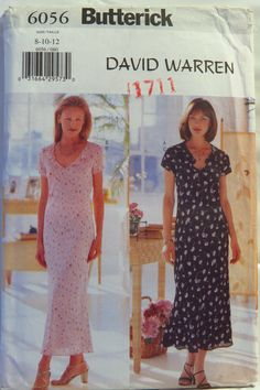 Butterick 6056 Misses'/Misses' Petite Dress and Slip Vintage Patterns, Sewing Patterns, Petite Dresses, Short Sleeve Dresses, Collection, Women, Fashion, Moda, Fashion Styles