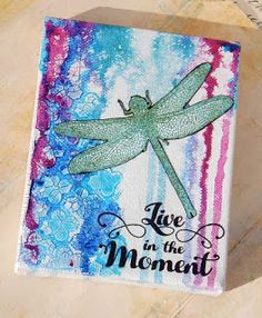 Tangled Blue Rose: Visible Image Sunday Play~Dragonfly Mini Canvas