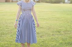 80s Vintage full-circle striped dress / by VintageMindedMaven