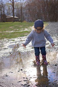 #rainboots, #girl, #childphotography, #Marylandphotographer #boots, #hat, #puddle