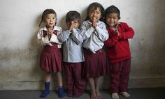 Pre-K kids at the Sankhu-Palubari Community School in Nepal. Your vote can help keep kids out of child labor.