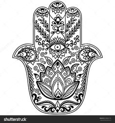 Stock Vector Hamsa Hand Drawn Symbol 338862176 1500x1600