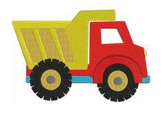 Dump Truck Machine Embroidery Design by EmbroideryMonkey on Etsy Machine Embroidery Applique, Applique Patterns, Applique Designs, Quilt Patterns, Truck Crafts, Petunia, Construction Theme, Dump Truck, Embroidery Techniques