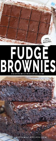 Chocolate Fudge Brownies, Homemade Brownies, Best Brownies, Chewy Chocolate Cookies, Chocolate Bread Pudding, Chocolate Desserts, Frosted Brownies, Brownie Frosting, Chocolate Frosting