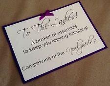 Handmade Personalised Comfort Bathroom Basket Toiletries Sign Wedding