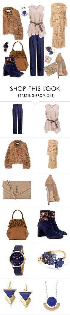 """Grizzli coat-)"" by atomrat ❤ liked on Polyvore featuring Victoria Beckham, Brunello Cucinelli, Marni, A.W.A.K.E., Yves Saint Laurent, Jimmy Choo, MaxMara, Eugenia Kim, DKNY and Banana Republic"