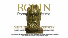 """Rodin Exhibit in Fayetteville, NC """"Rodin: Portraits of a Lifetime"""" opens Feb. 11, 2016 at Methodist University's David McCune International Art Gallery. Nautilus Productions LLC proudly produced the display video and commercial that accompanies the exhibit. https://youtu.be/vcZOSttb3Xw  #NautilusProductions #Art #Sculpture #MethodistUniversity #Rodin #VideoProduction"""